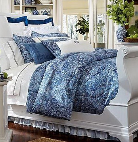 Ralph Lauren Bedding Blue Paisley