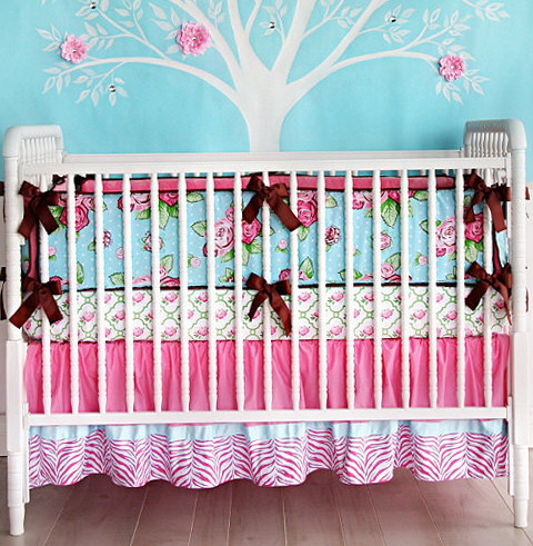 Red Crib Bedding For Girls