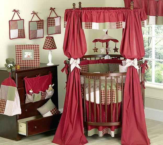 Round Baby Crib Bedding Sets