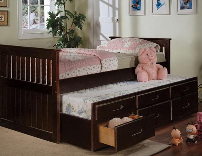 Twin Bed With Storage Drawers Underneath