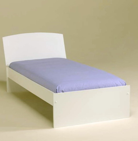 White Bed Frame Single