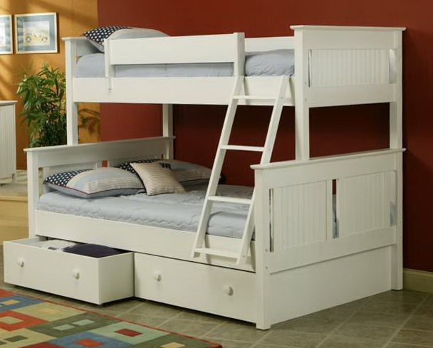 White Bunk Beds Twin Over Full