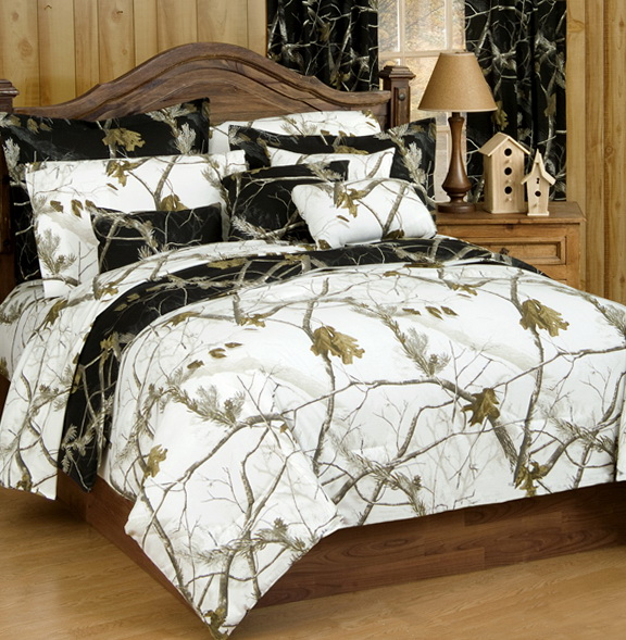 White Camo Bed Sets
