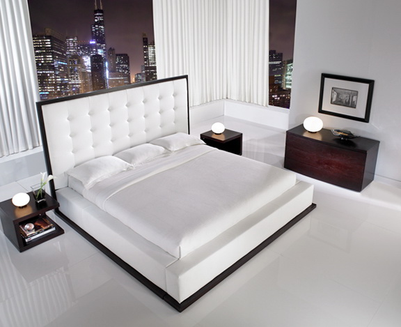 White King Platform Bed Frame