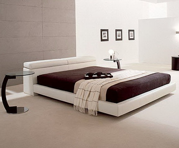 White Platform Bed Frame
