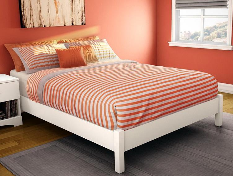 White Platform Bed Full