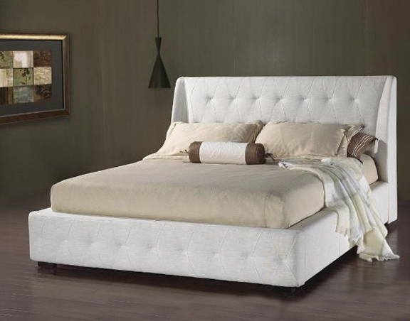 White Platform Bed Queen
