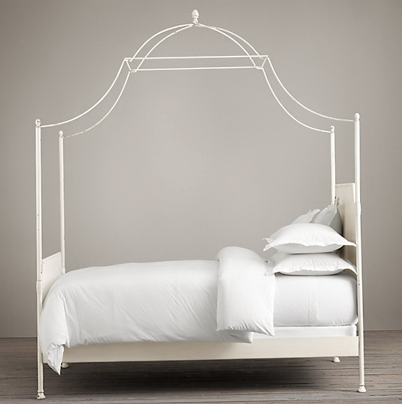 White Queen Canopy Bed