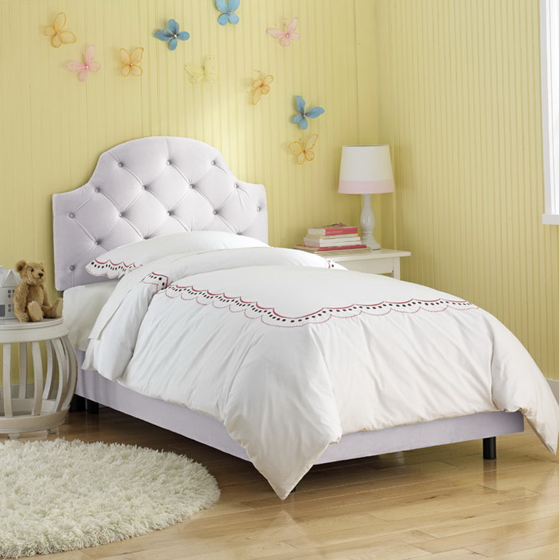 White Twin Bed Headboard