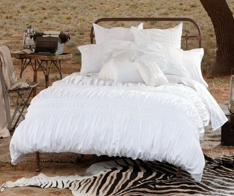 White Twin Bed Set