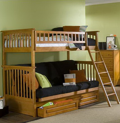 Wood Twin Bed With Drawers