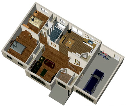2 Bedroom House Plans With Garage