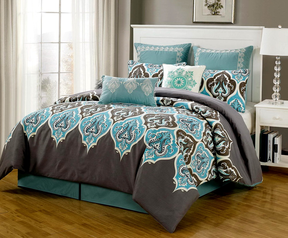 Bedroom Comforter Sets With Curtains