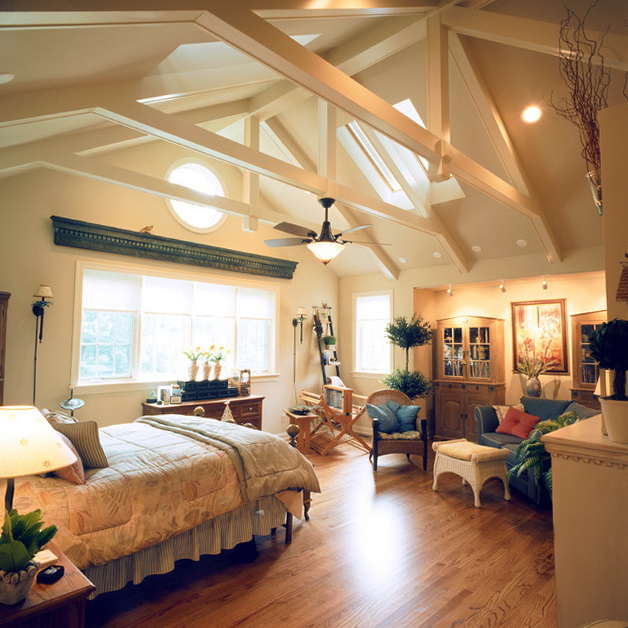 Bedroom Lighting Ideas Vaulted Ceiling