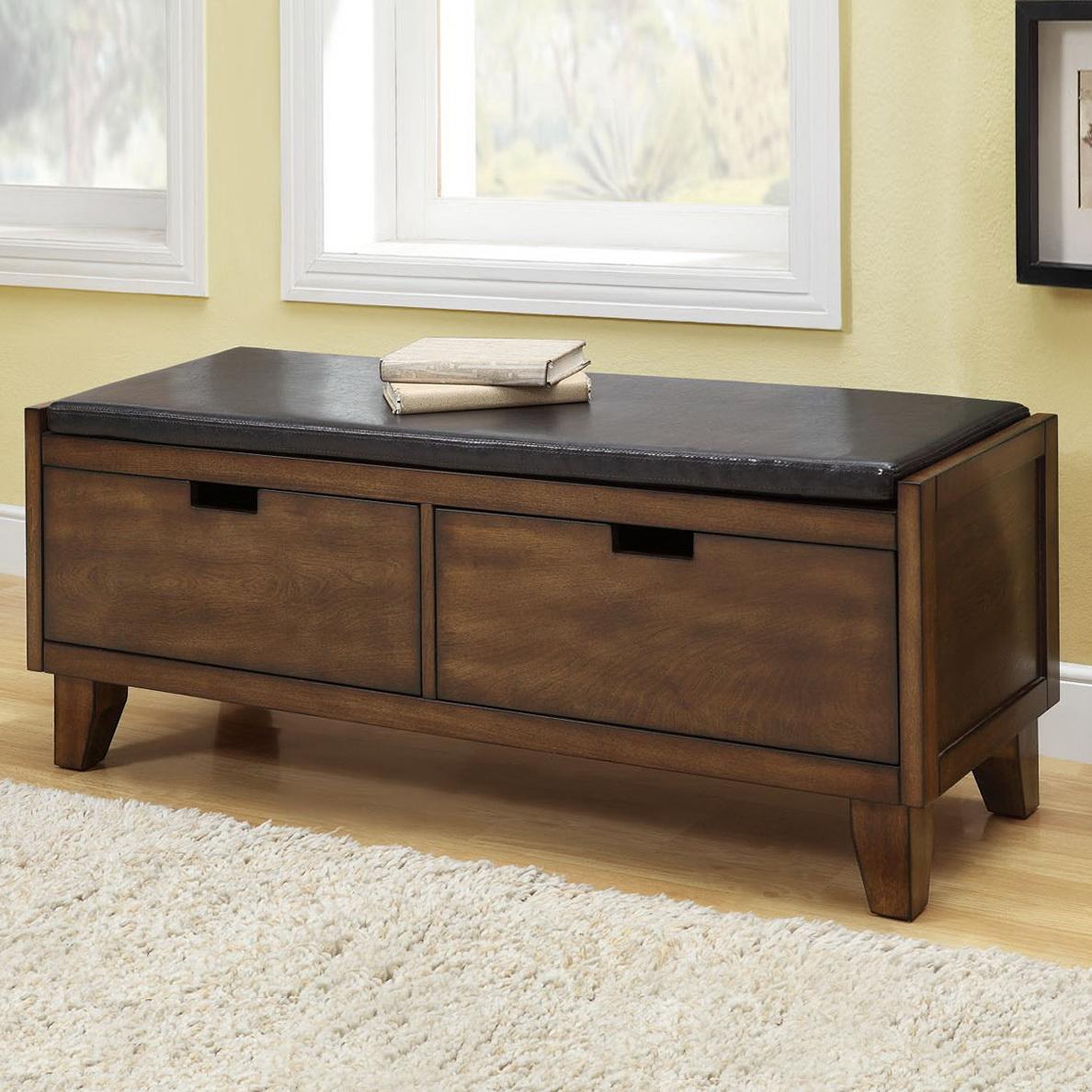 Bedroom Storage Bench Wood