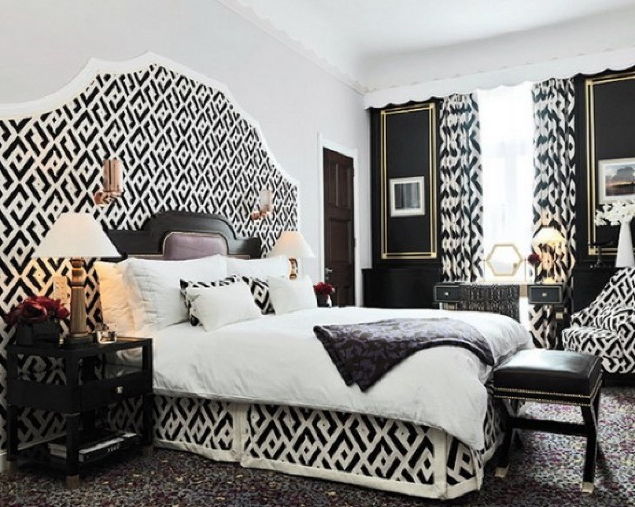Black And White Bedroom Decor