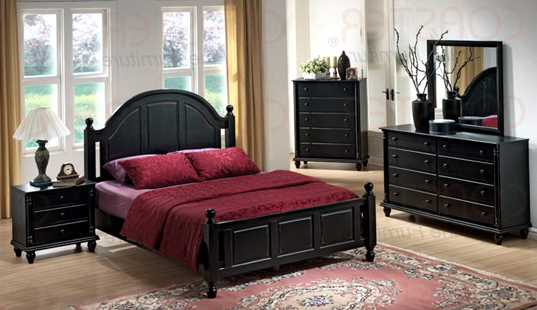 Black Bedroom Furniture Design Ideas