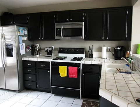How To Paint Kitchen Cabinets Black
