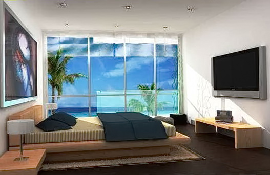 Modern Beach Themed Bedrooms