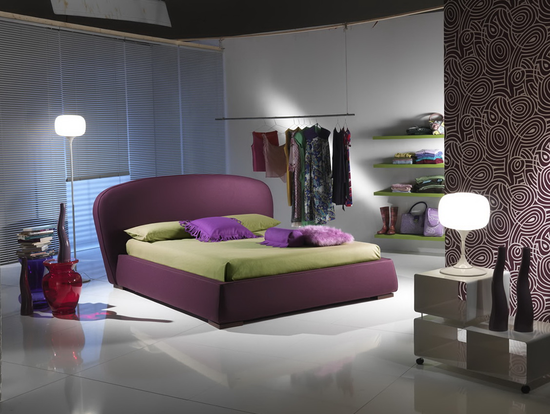 Modern Bedroom Ideas Purple