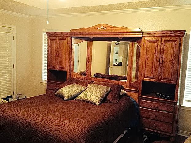 Queen Bedroom Set With Mirror Headboard