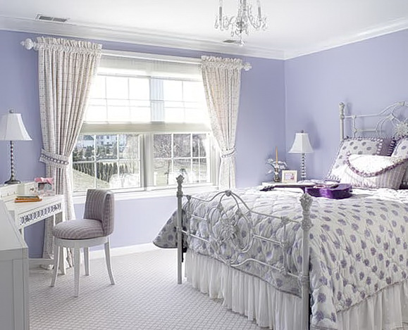 Shabby Chic Bedroom Purple