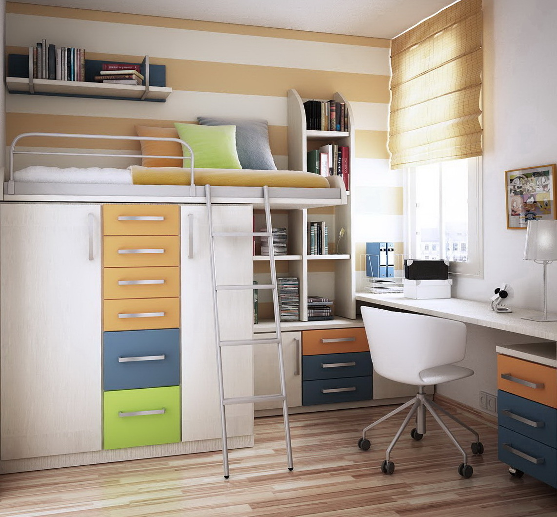 Storage Ideas For Small Bedrooms For Kids