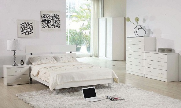 White Bedroom Furniture Set Full