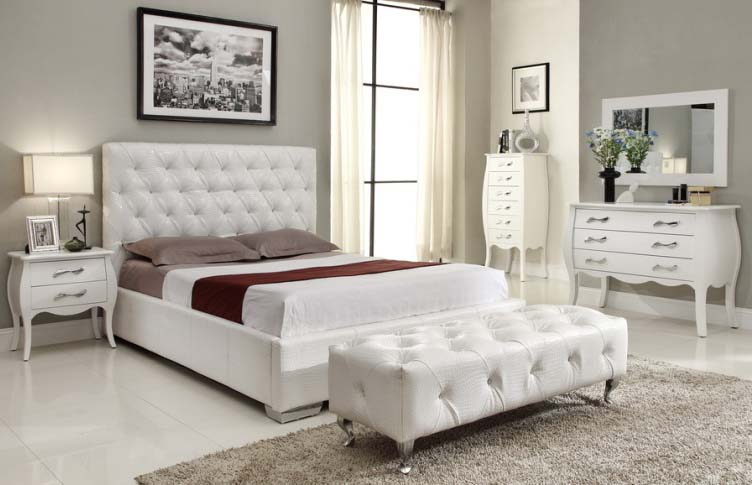 White Bedroom Furniture Set Twin