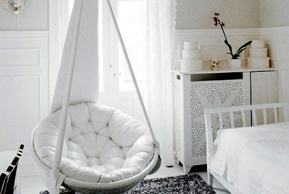 White Hanging Chair For Bedroom