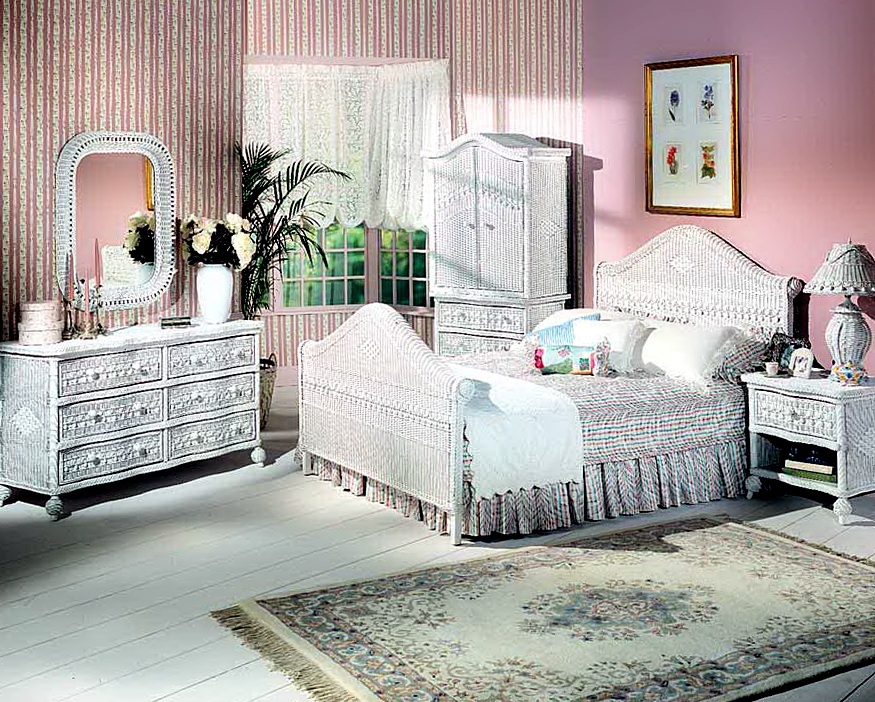 White Wicker Bedroom Furniture