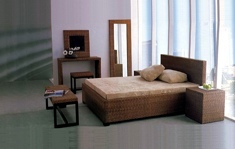 Wicker Bedroom Furniture Sets