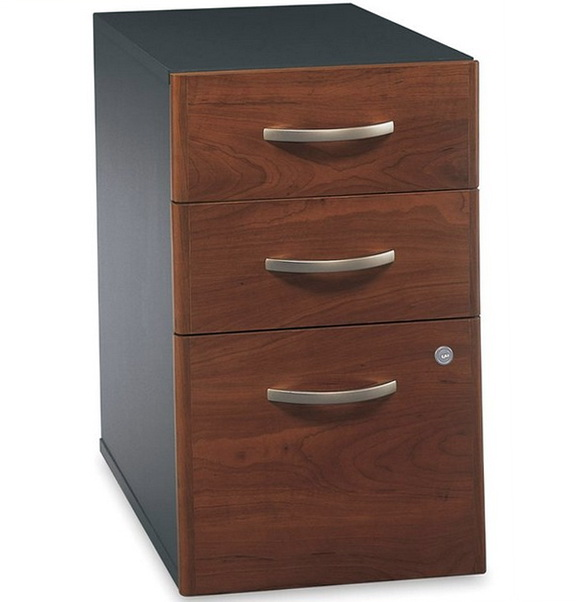 3 Drawer Wood File Cabinet