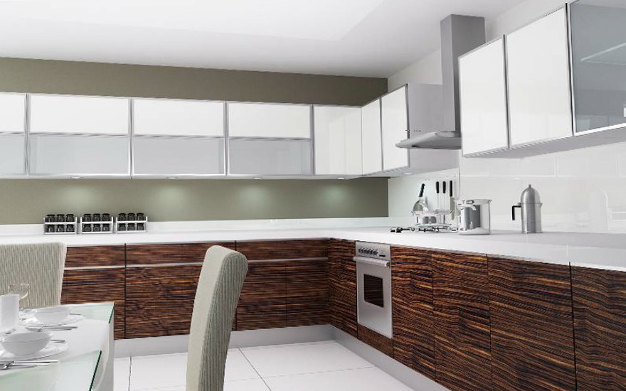 Aluminum Glass Kitchen Cabinet Doors