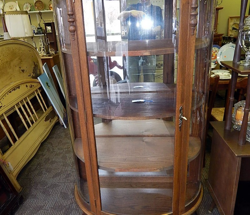 Antique Glass Curio Cabinets