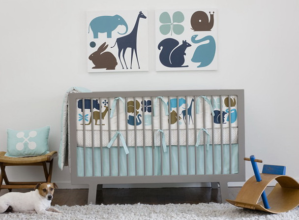 Baby Boy Nursery Bedding Modern