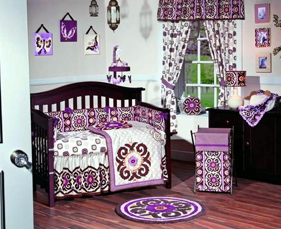 Baby Girl Bedding Sets Purple1