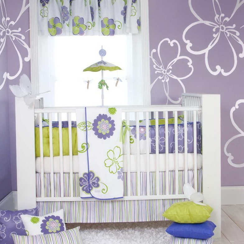 Baby Girl Purple Crib Bedding