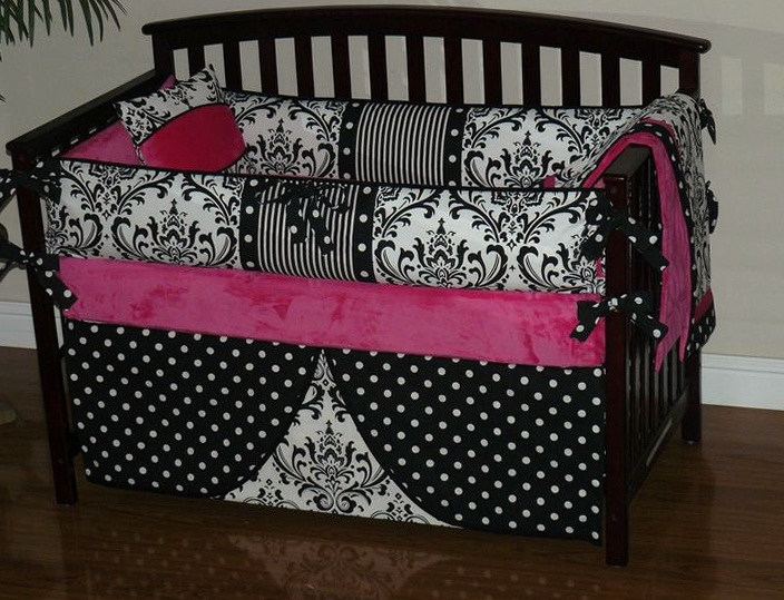 Baby Pink And Black Bedding