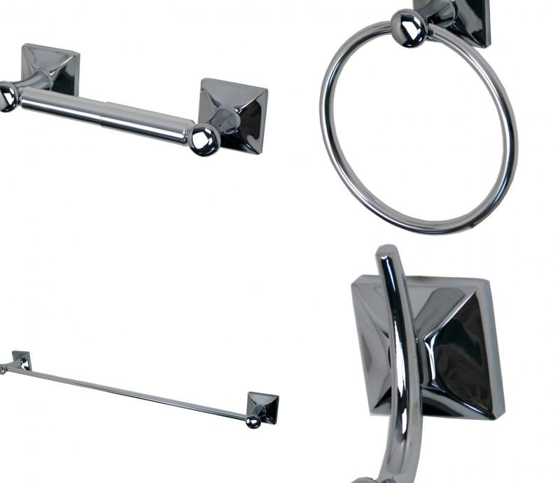 Bathroom Accessories Set Chrome