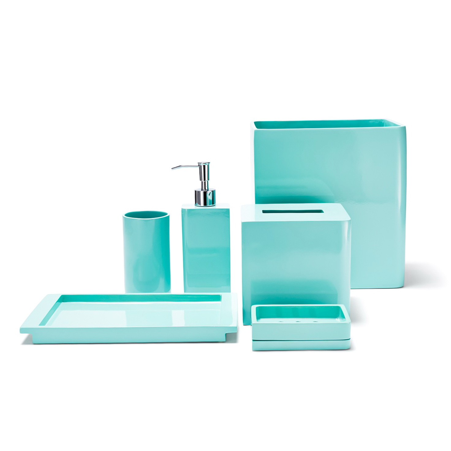 Bathroom Accessories Sets Blue