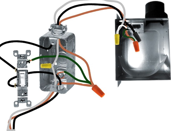Bathroom Exhaust Fan Wiring