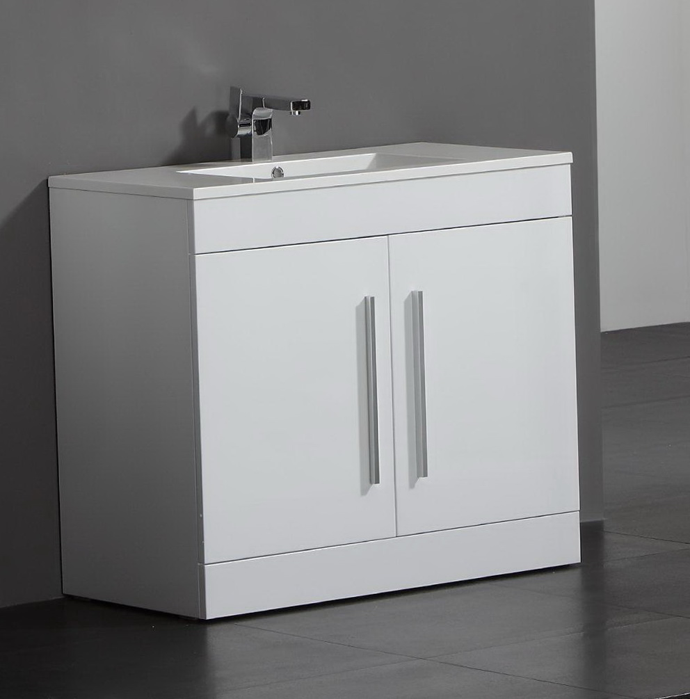 Bathroom Floor Cabinet White