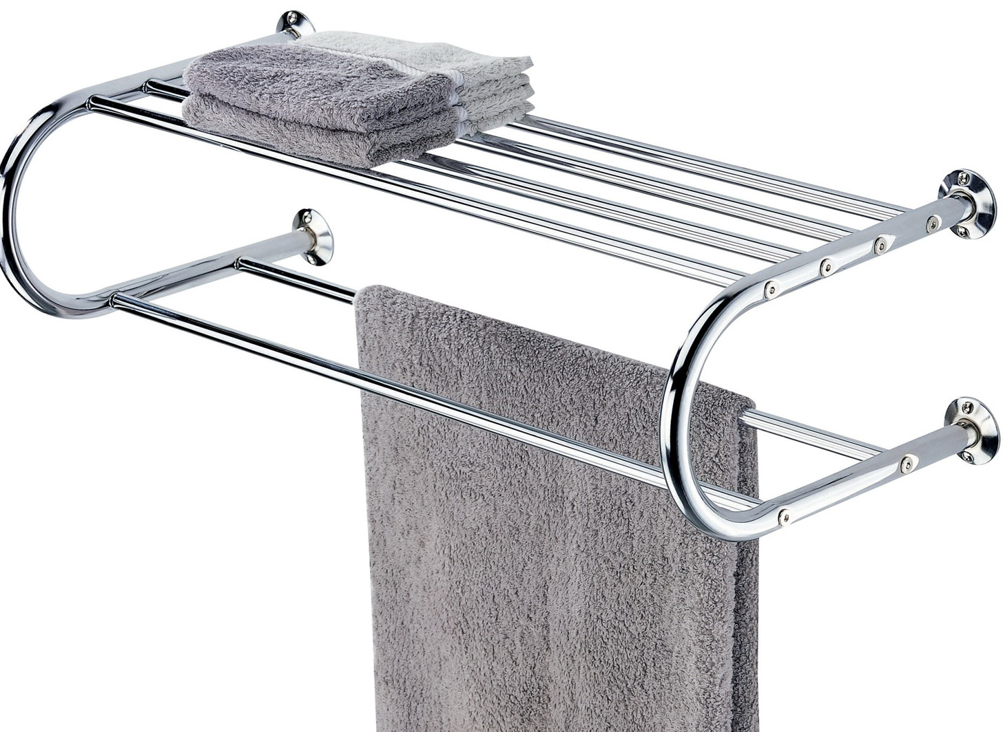 Bathroom Towel Racks With Shelves