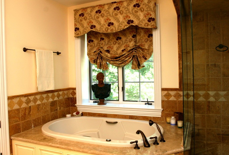 Bathroom Window Curtains Designs