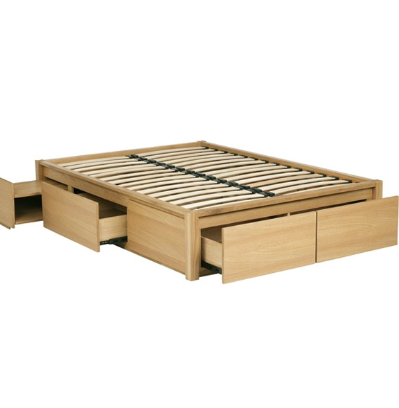 Bed Frame With Storage Plans