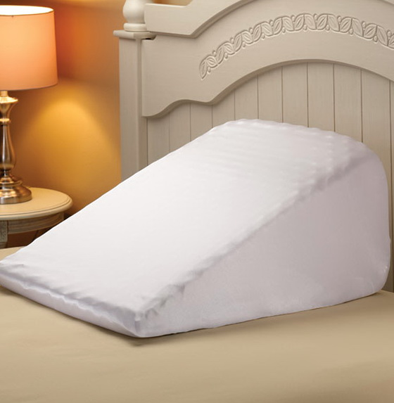 Bed Wedge Pillow And Pillowcase