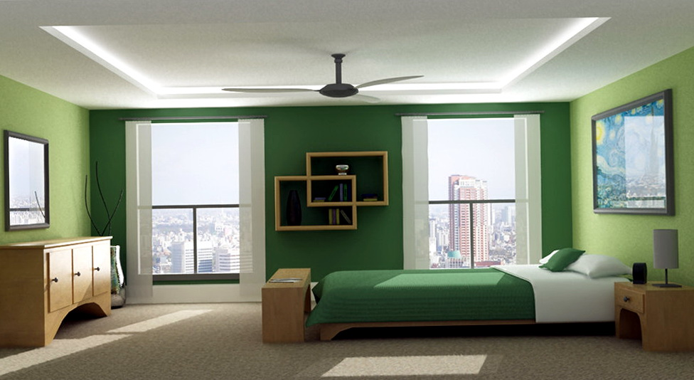 Bedroom Wall Colors Green