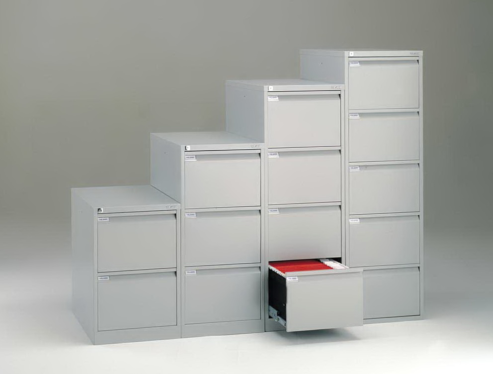 Bisley White Filing Cabinet