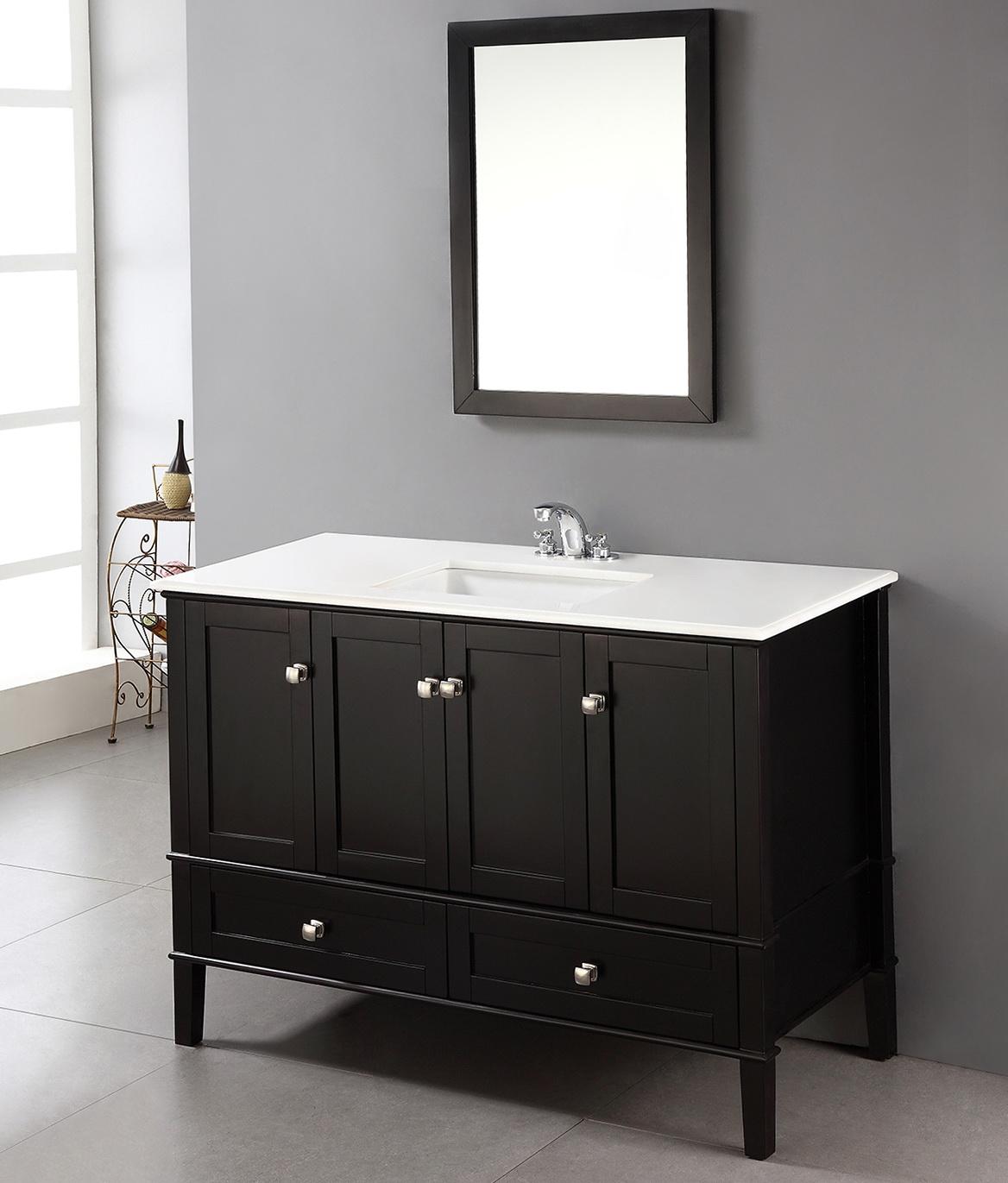 Black 48 Inch Bathroom Vanity